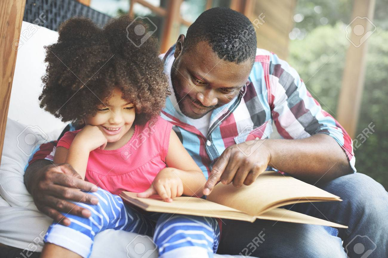 Father Daugther Bonding Cozy Parenting Education Concept - 52353959