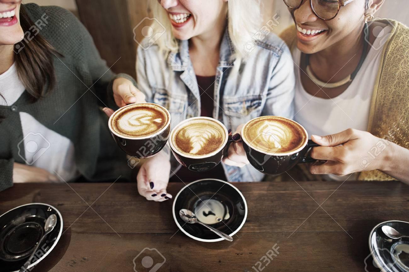 Women Friends Enjoyment Coffee Times Concept - 52403580