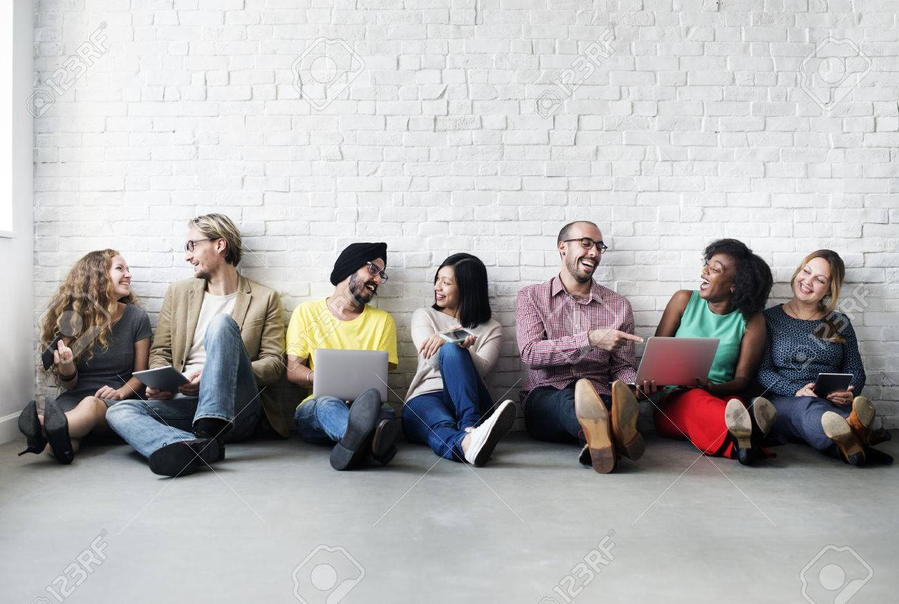 Diverse People Digital Device Connection Technology Concept - 52408155