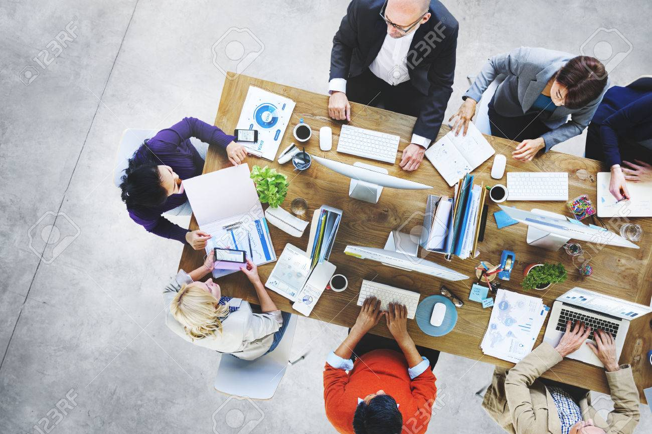 Group of Business People Working in the Office Concept - 52449320