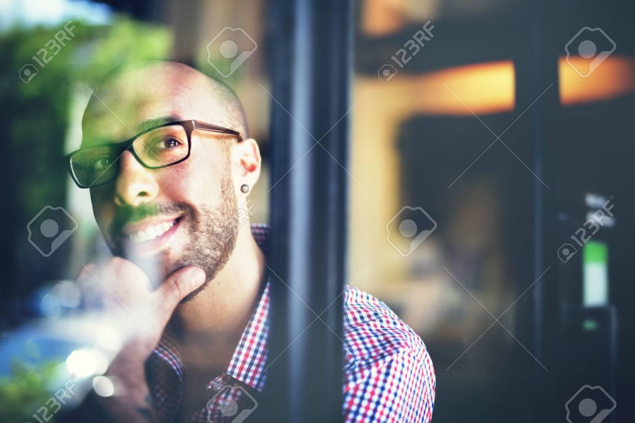 Man Positive Thinking Inspiration Ideas Mind Concept - 52461735