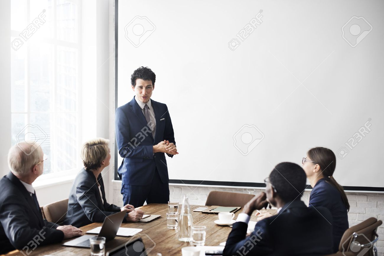 Business Team Meeting Working Presentation Concept - 52470032