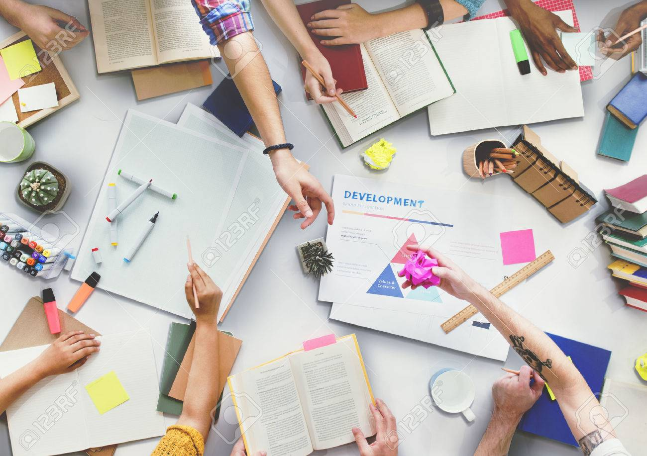 Brainstoming Gruoup of people Working Concept Stock Photo - 52482948