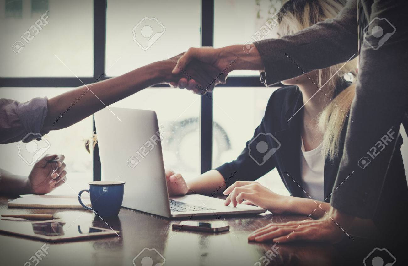 Business People Handshake Greeting Deal Concept Stock Photo - 52798433