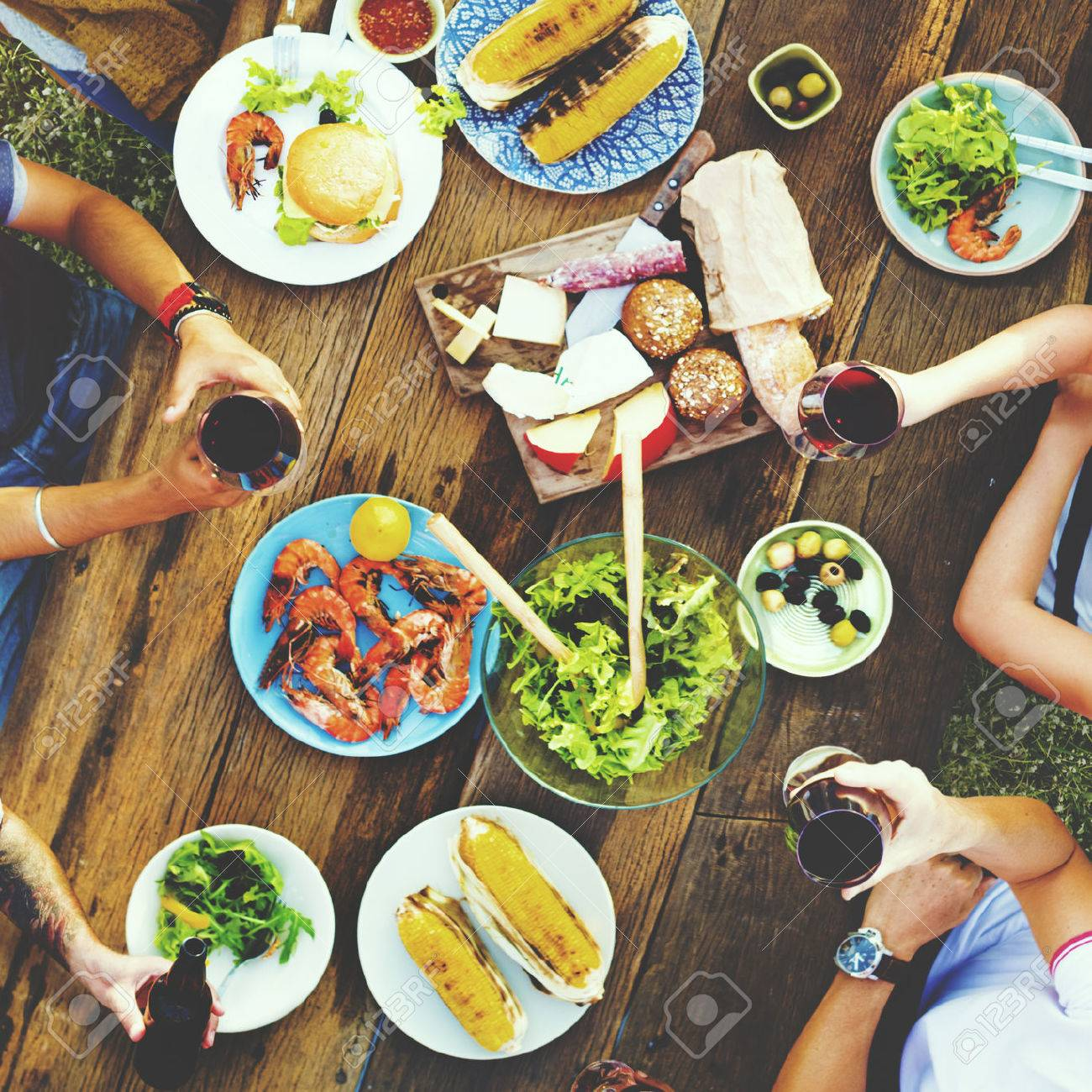 Friends Friendship Outdoor Dining People Concept - 53033079