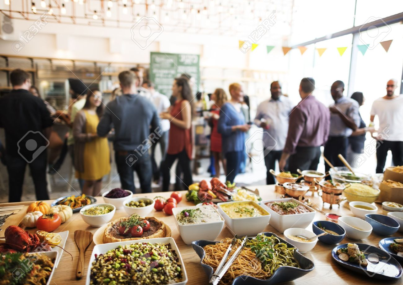 Buffet Dinner Dining Food Celebration Party Concept Stock Photo   53068590