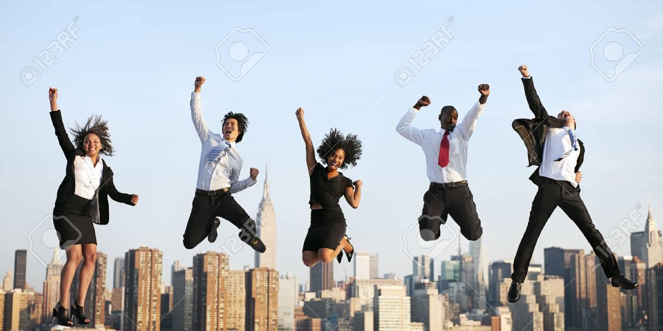 Business People Success Achievement City Concept - 53071849