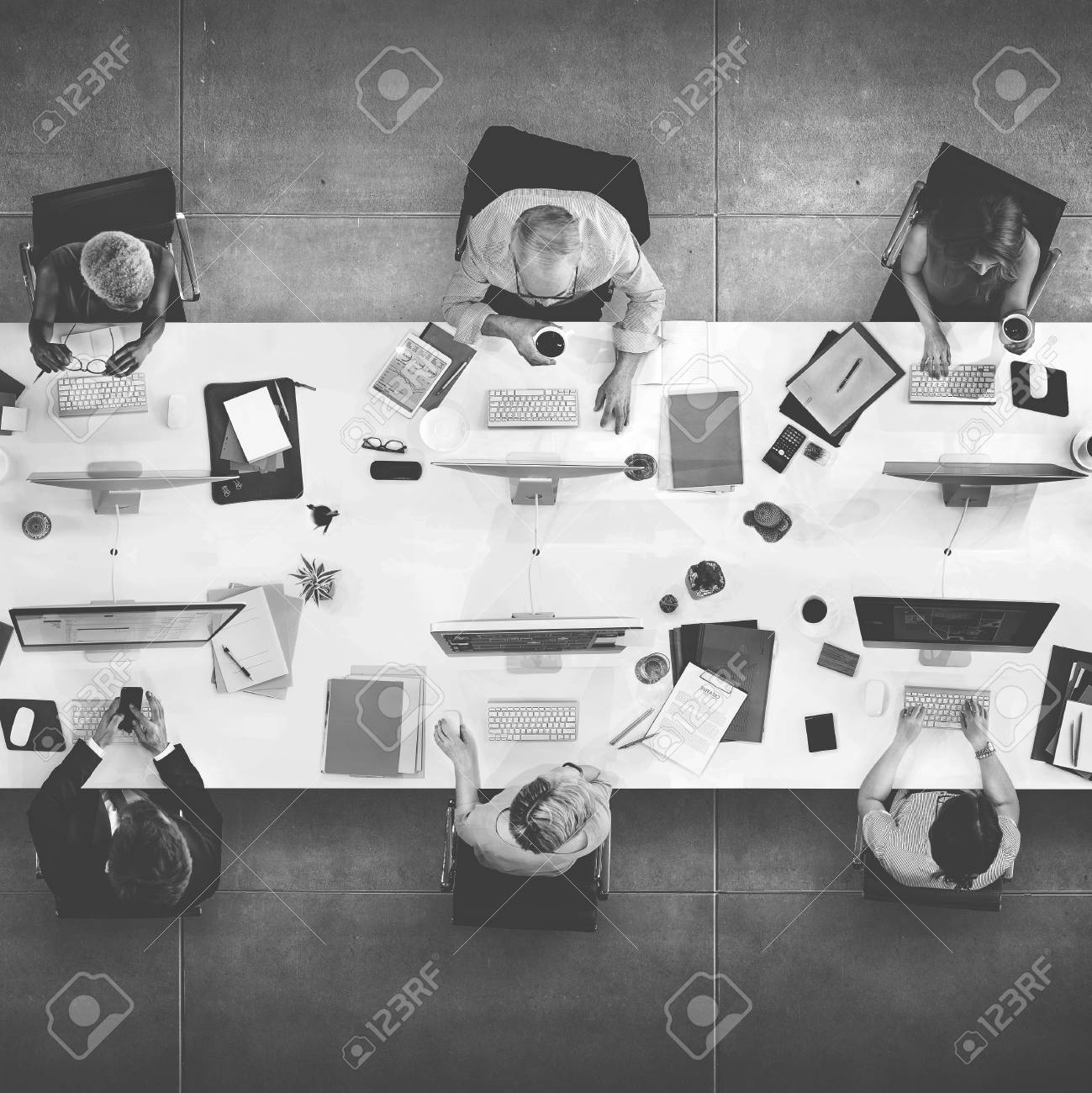 Business Team Meeting Connection Digital Technology Concept - 53071976