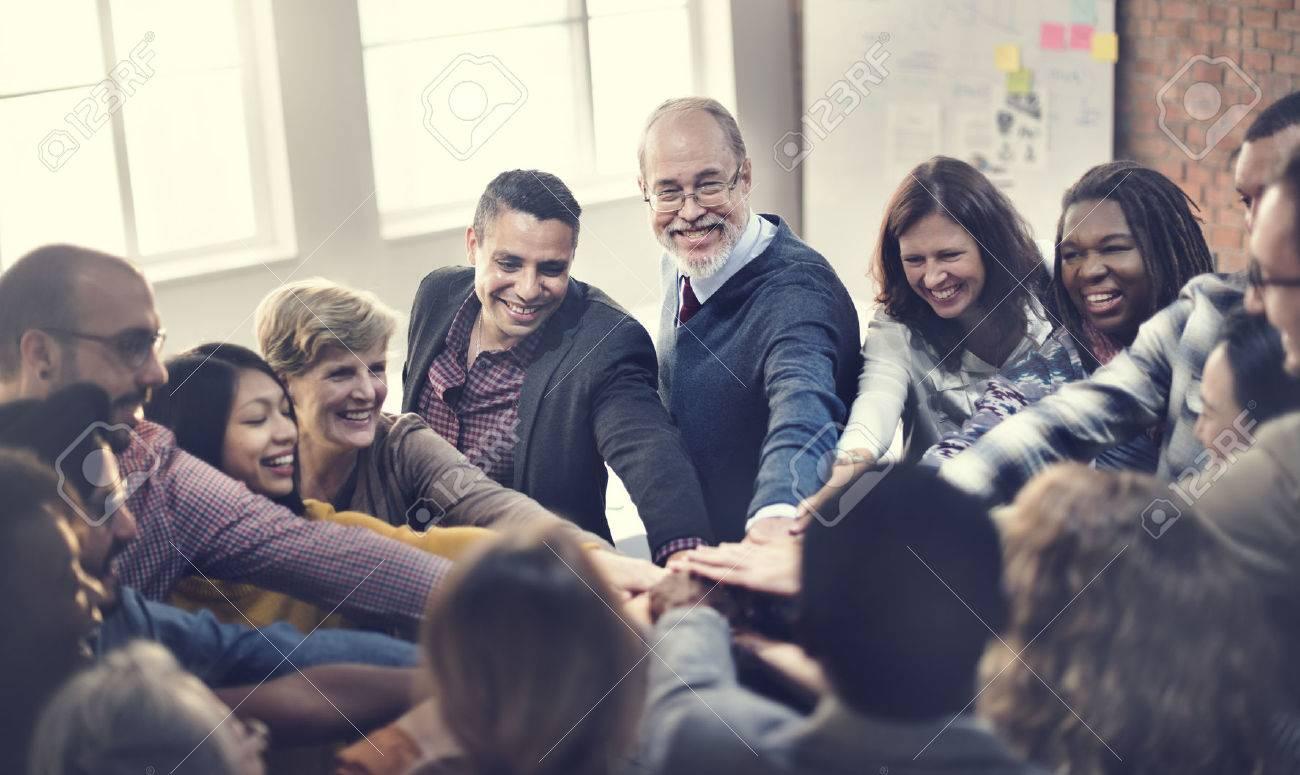 Team Teamwork Join Hands Partnership Concept - 53108553