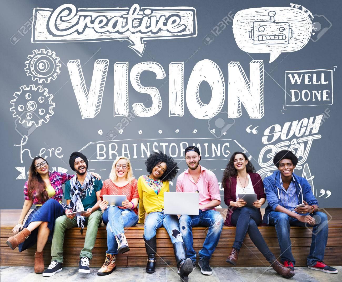 Vision Creative Ideas Inspiration Target Concept - 53560486