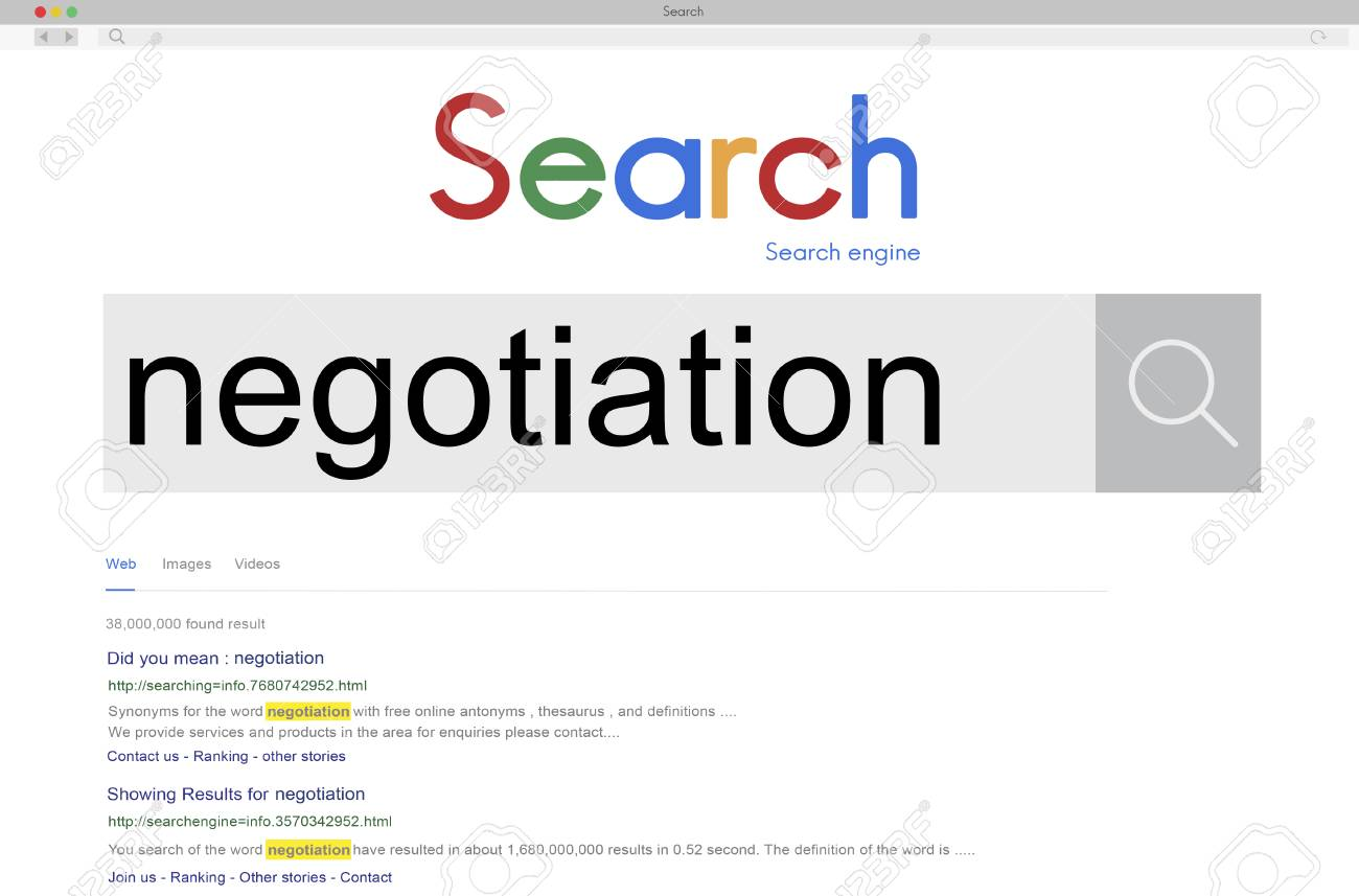 Negotiation Compromise Agreement Reconcile Concept Stock Photo