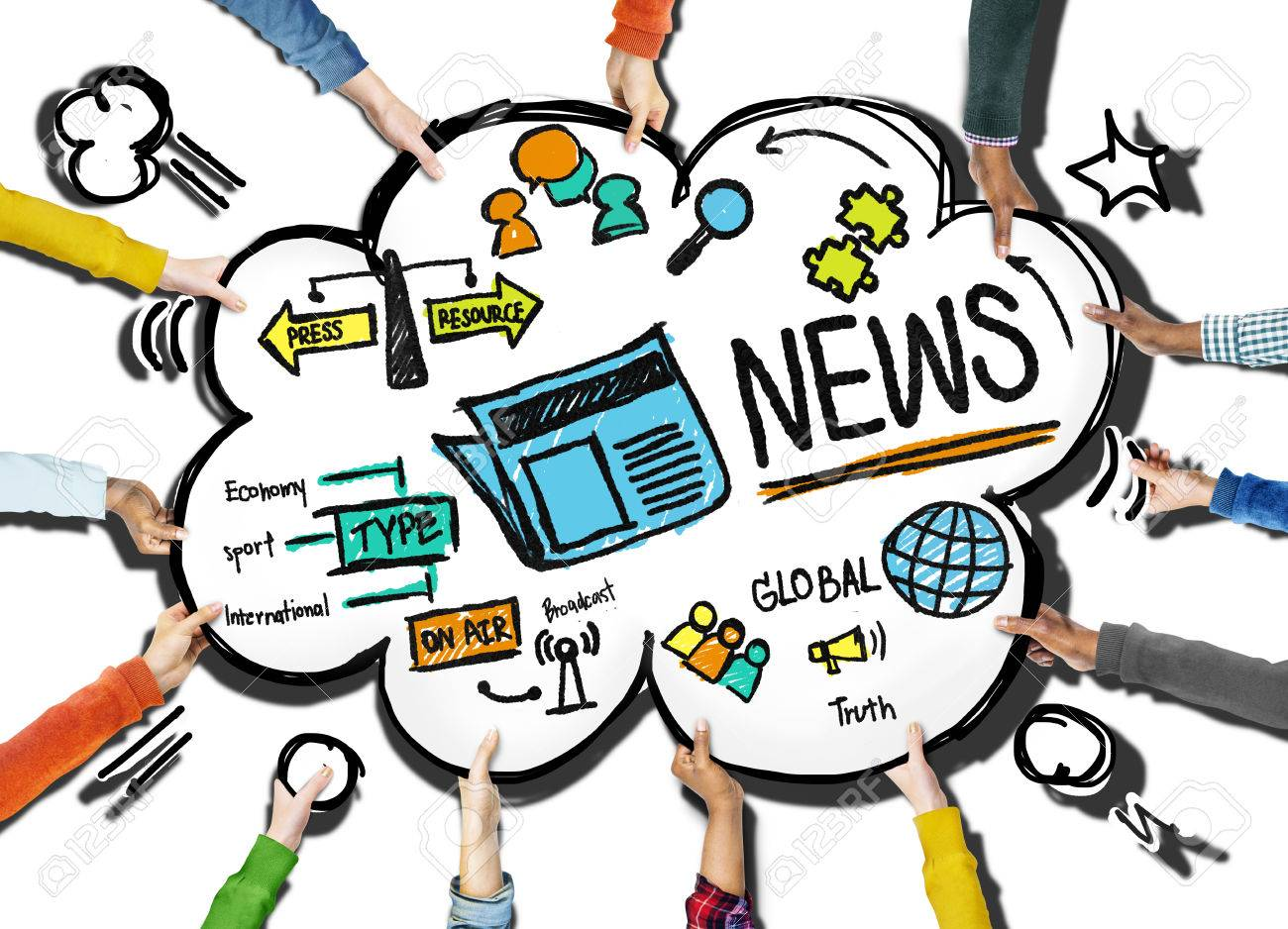 news journalism information publication update media advertisment rh 123rf com Garden Clip Art Journalism Interview