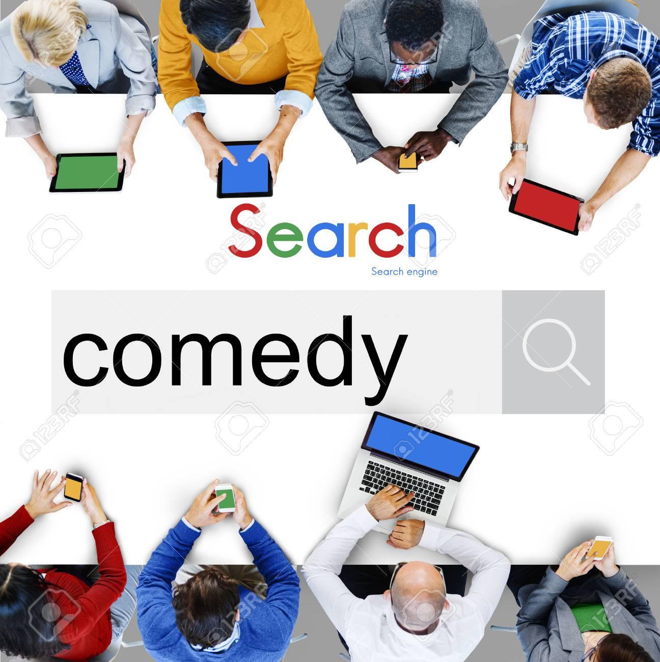 Comedy Fun Happiness Amusement Satire Cheerful Concept Stock Photo