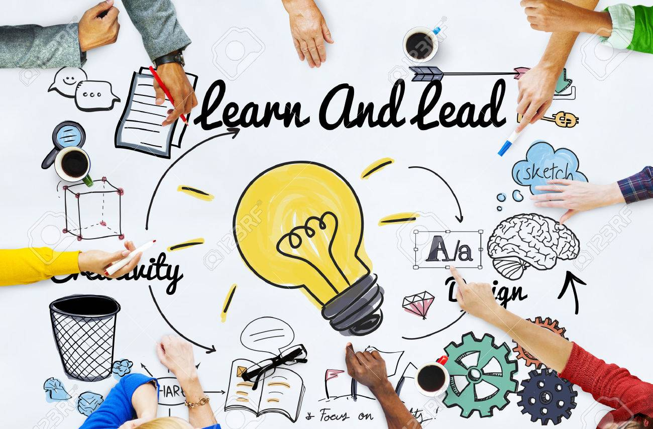 Learn and Lead Education Knowledge Development Concept - 53753385