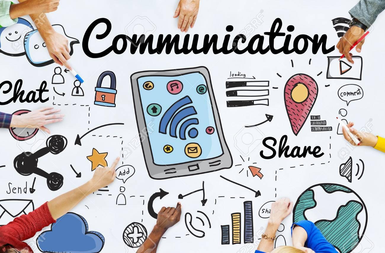 Communication Connection Social Network Concept - 53755187
