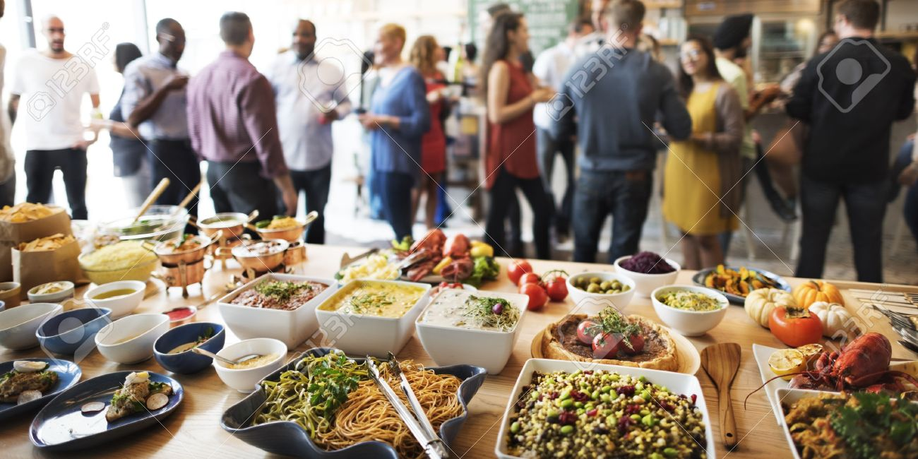Wonderful Buffet Dinner Dining Food Celebration Party Concept Stock Photo   53727328