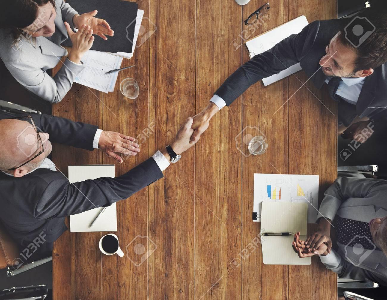 Business Team Meetng Handshake Applaud Concept - 53713289