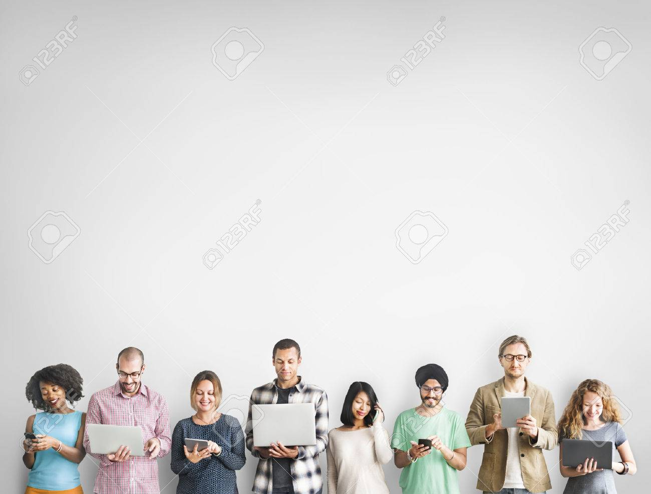 Group of People Connection Digital Device Concept - 53714678