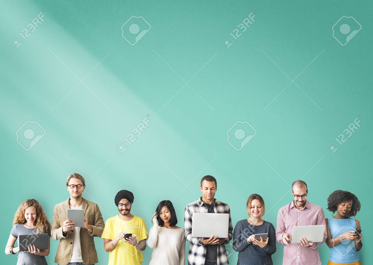 Group of People Connection Digital Device Concept - 53722065