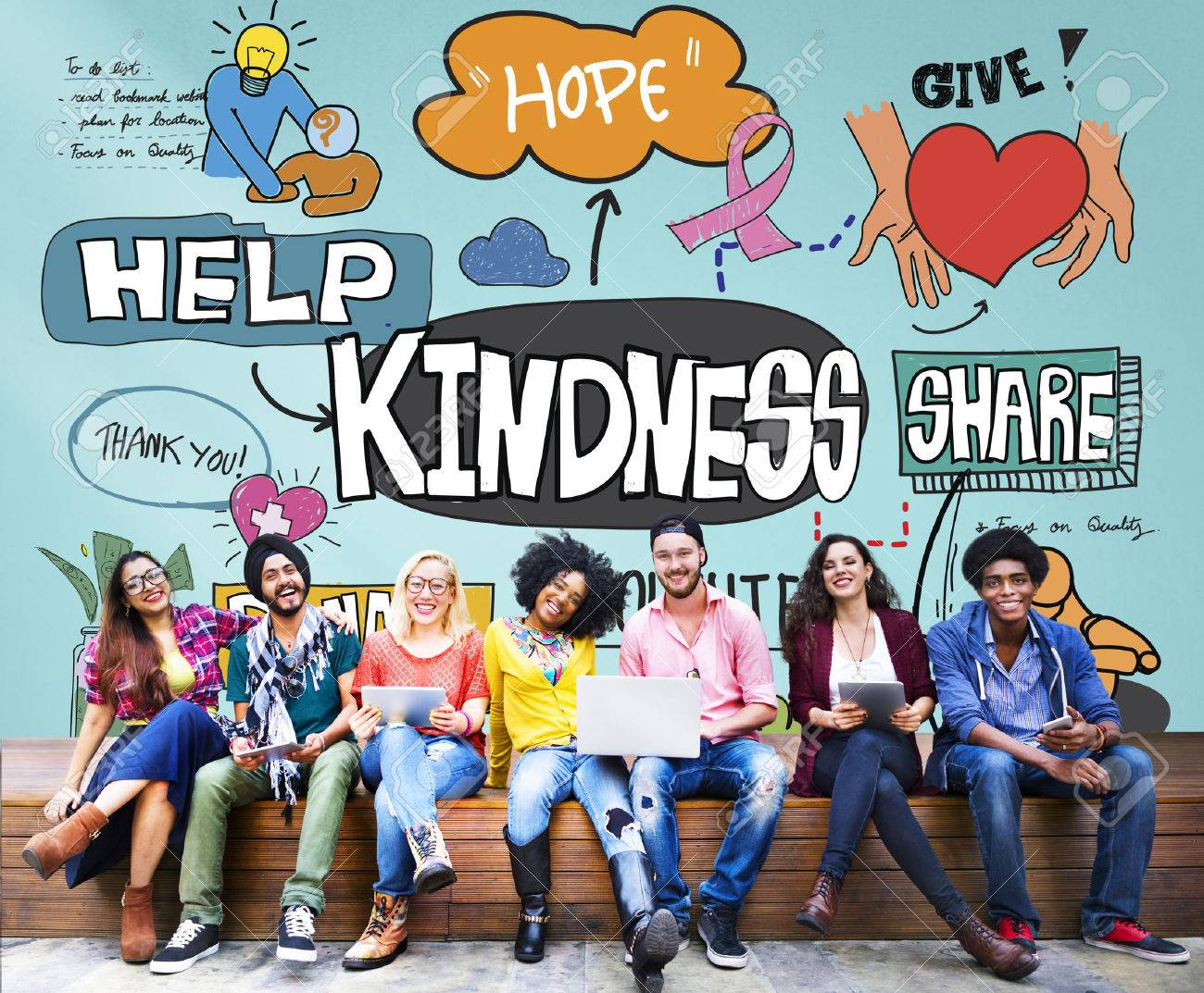 Kindness Kindly Optimistic Positive Giving Concept - 53962807