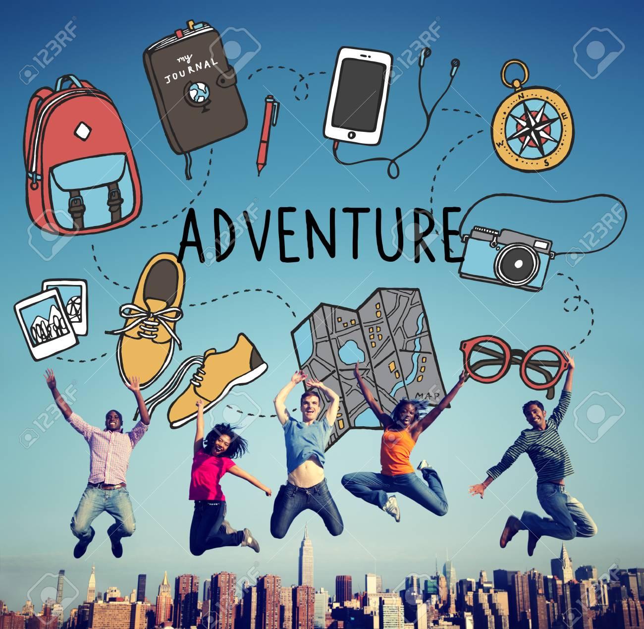 Adventure Travel Destinations Trip Holiday Concept - 54641710