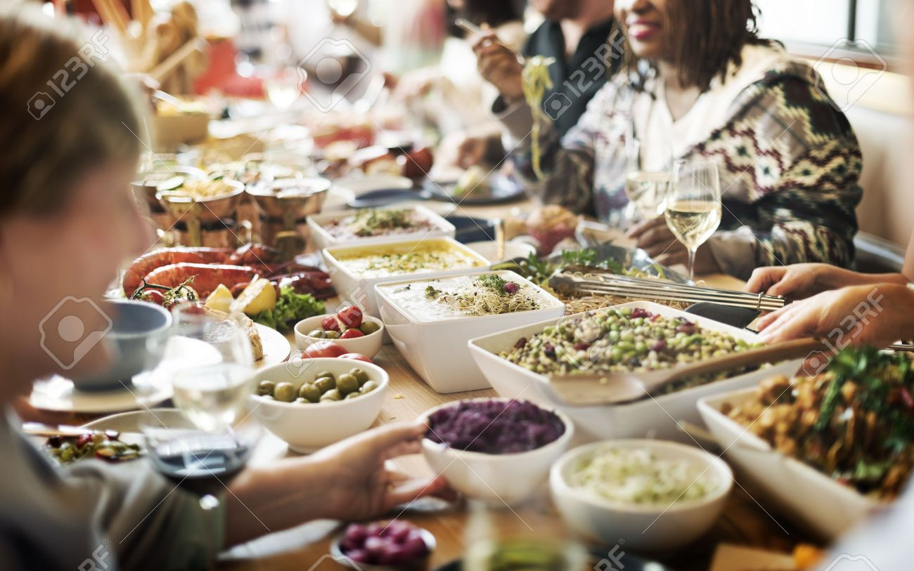 Food Buffet Catering Dining Eating Party Sharing Concept Stock Photo    54284362