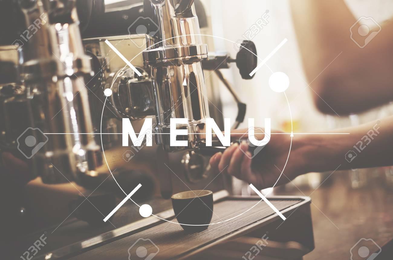 Menü Lebensmittel Und Getränke Bestellen Restaurant-Konzept ...