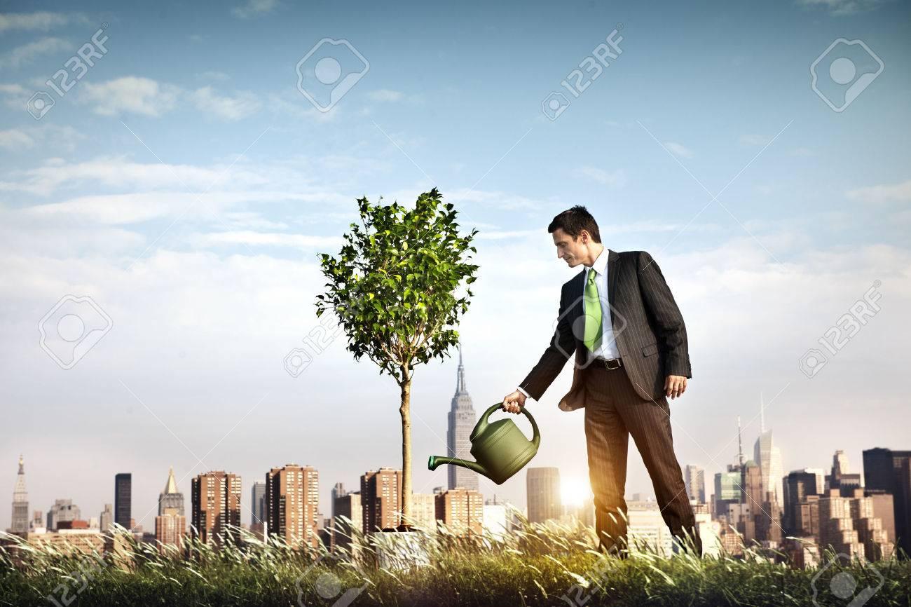 Businessman Entrepreneur Profit Beginning Concept - 54364099