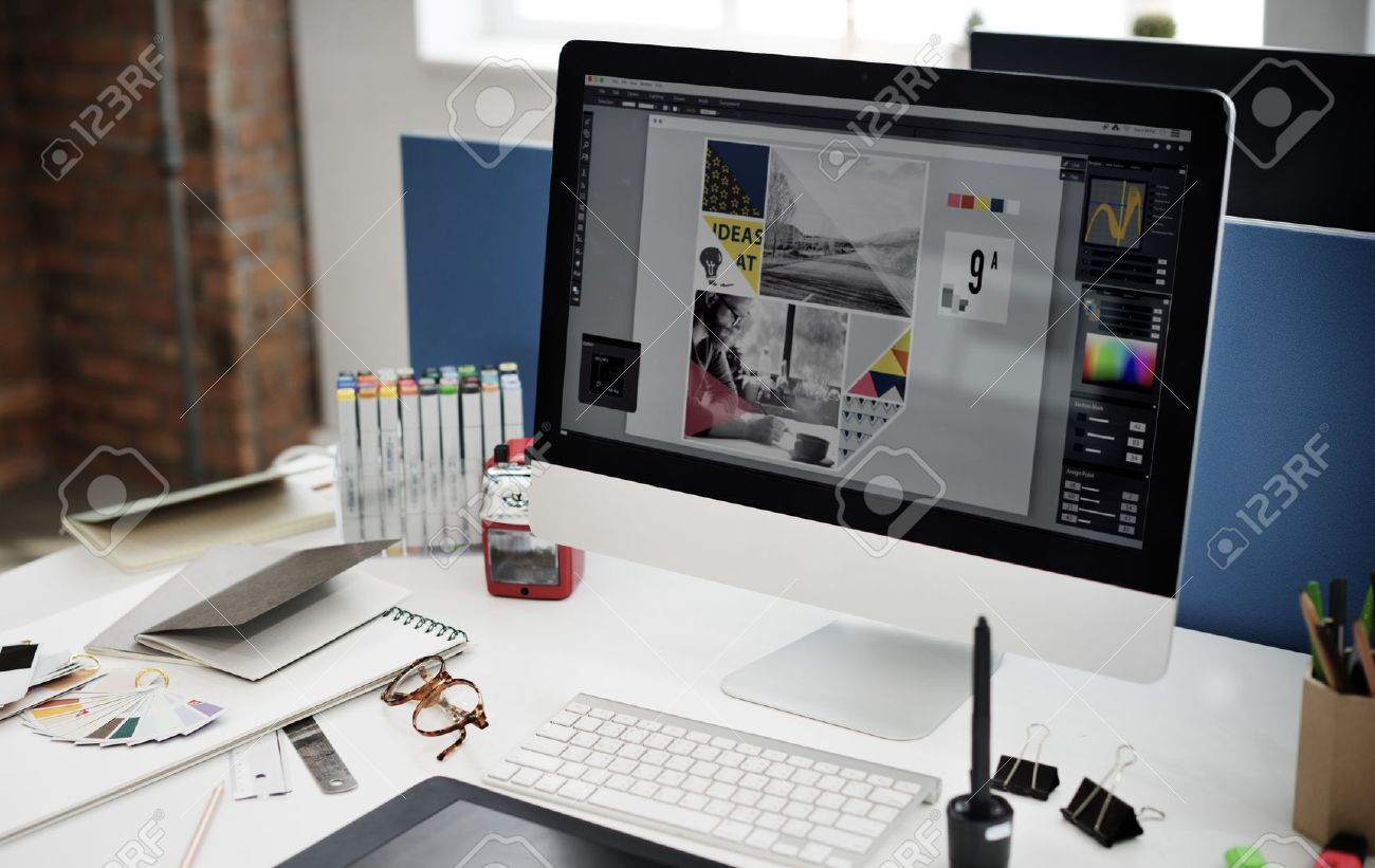 Design Studio Creativity Ideas Wood Palette Decoration Concept - 54626770
