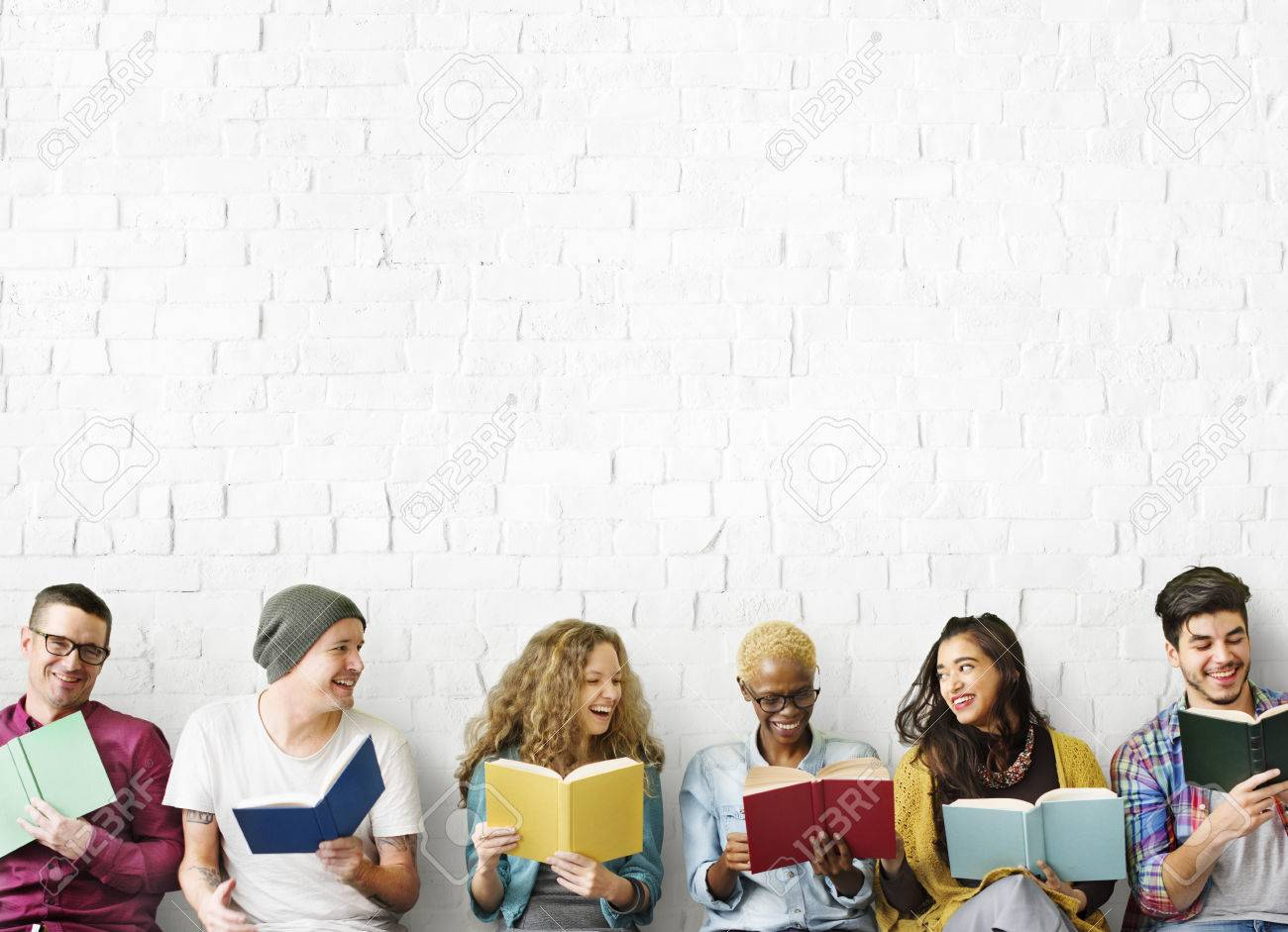 Diverse People Reading Books Study Concept - 54704938
