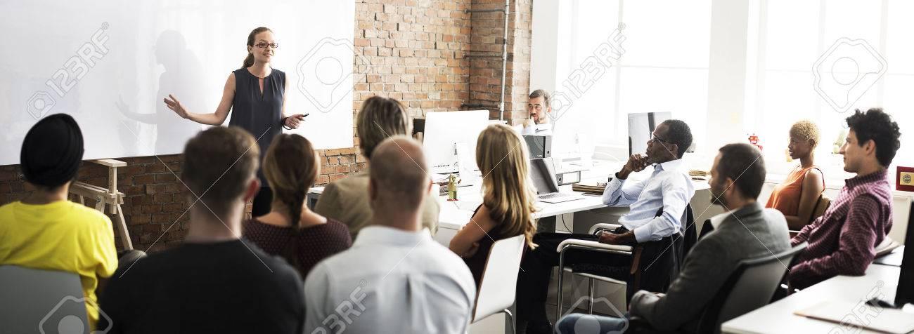 Business Team Training Listening Meeting Concept - 54729531