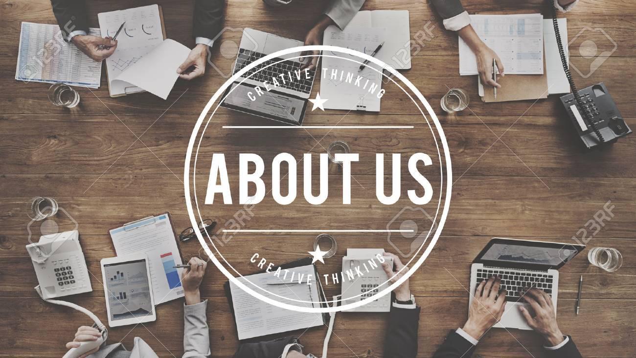About Us Details Contact Data Info Communication Concept - 54852807