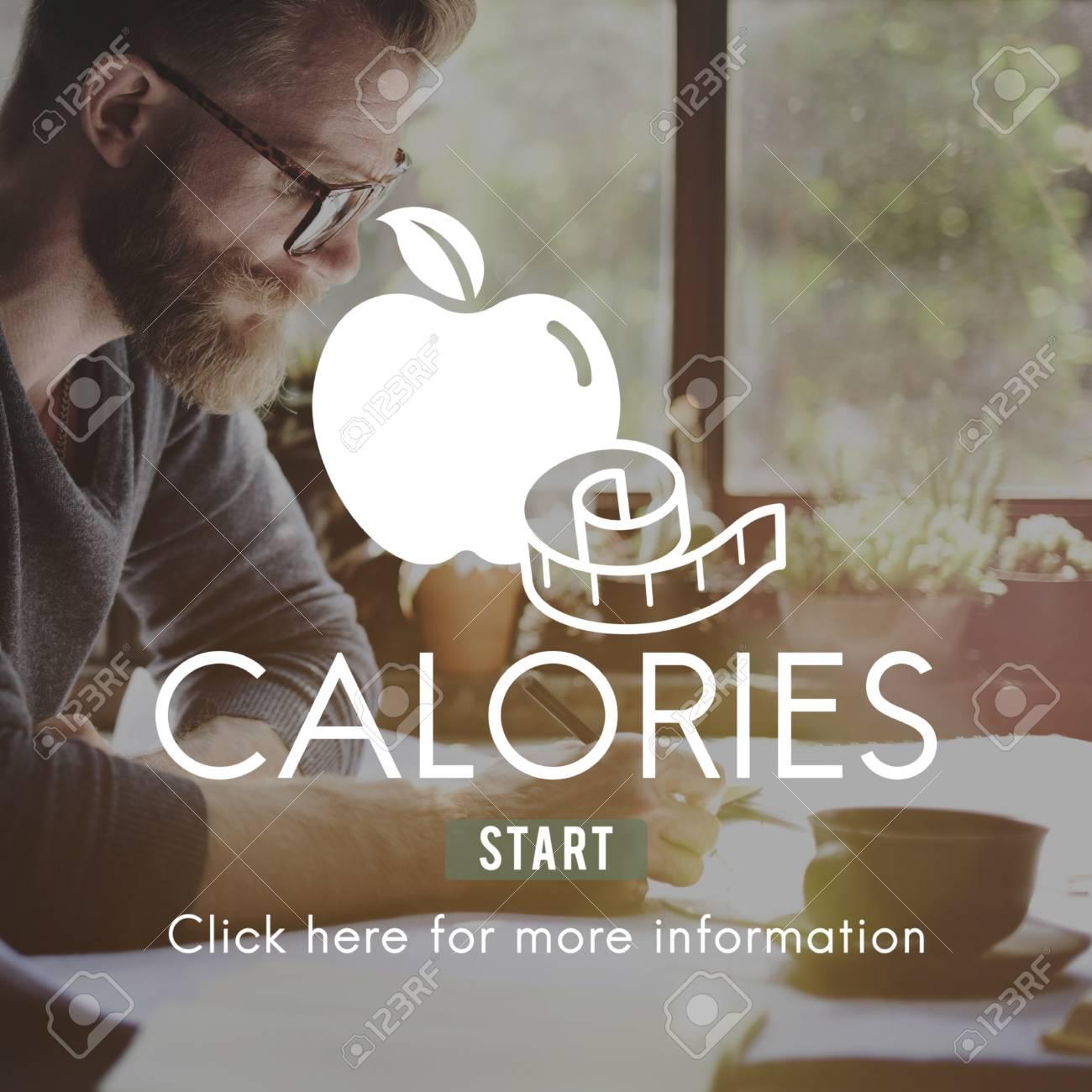 Kalorien-Diät-Energie-Nahrung Getränke Ernährung Konzept Lizenzfreie ...