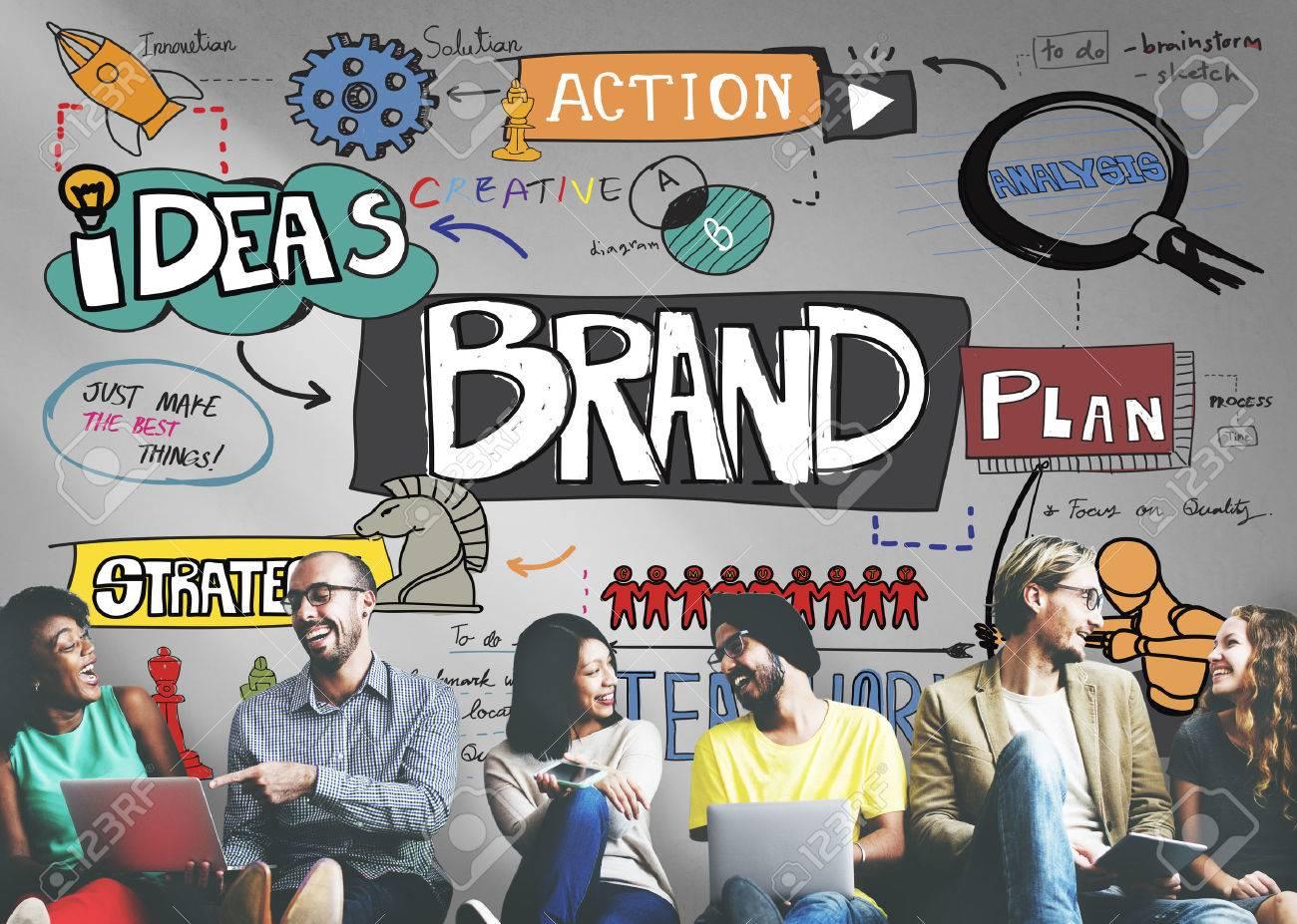 Brand Branding Strategy Marketing Creative Concept - 55440100