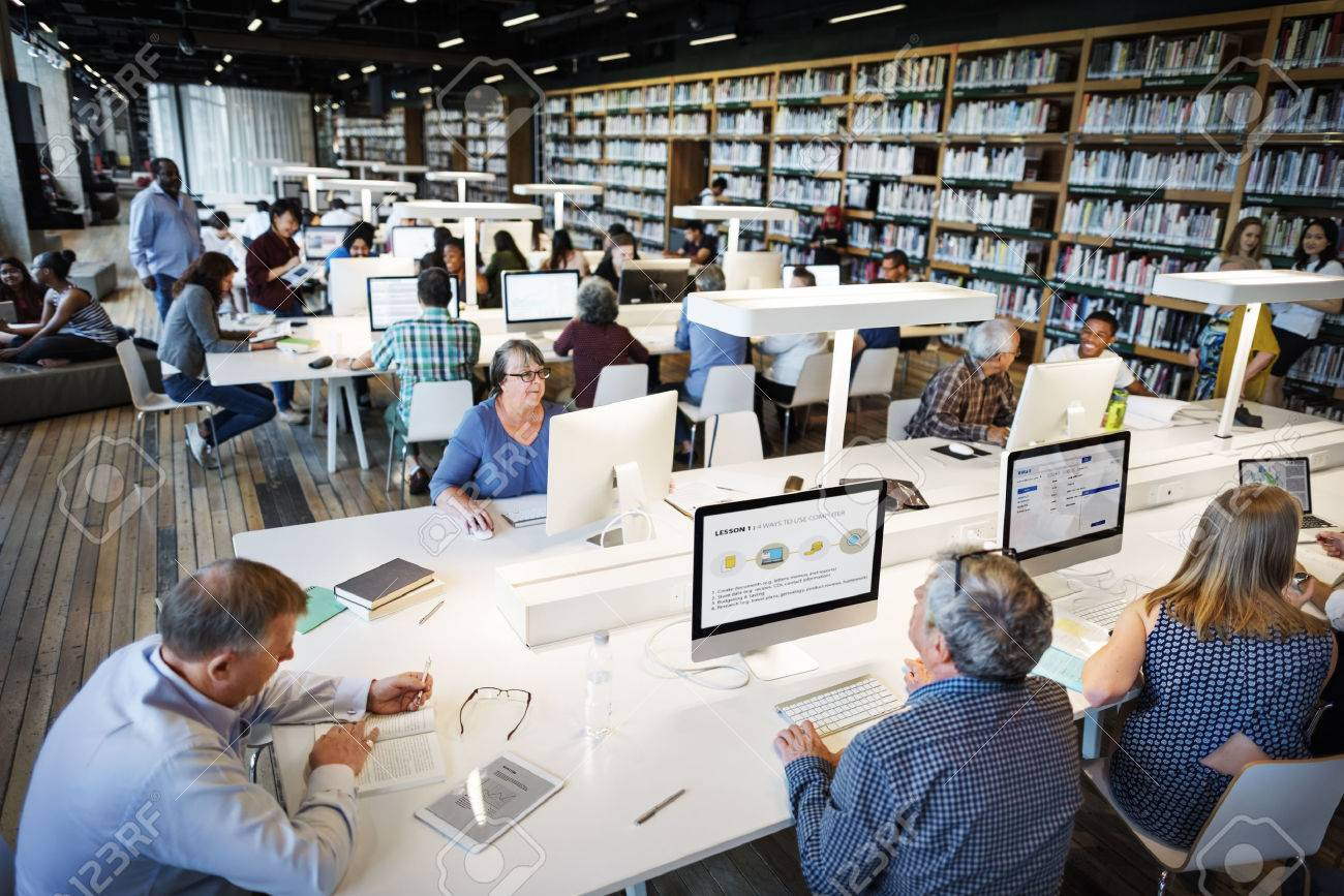 Library Academic Computer Education Internet Concept - 56186079