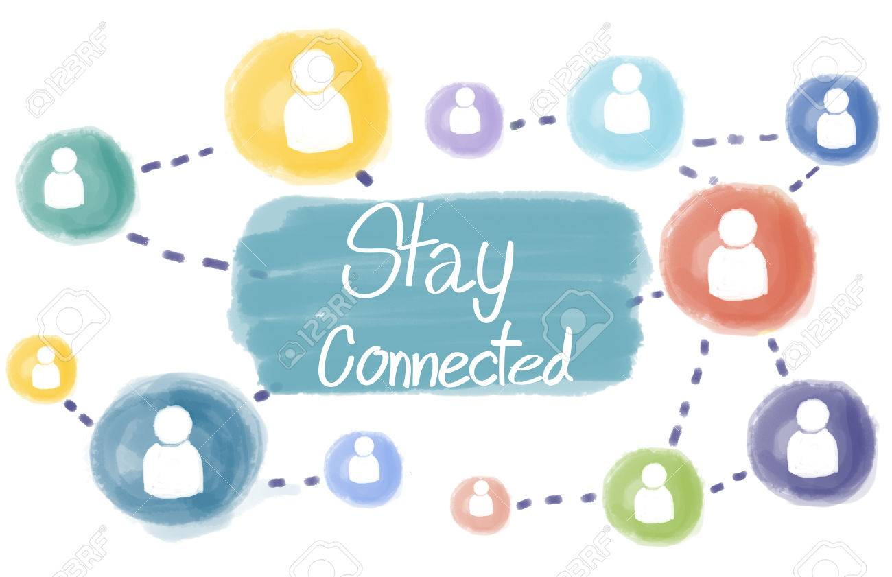 Stay Connected Communication Socialize Interact Concept Stock ...