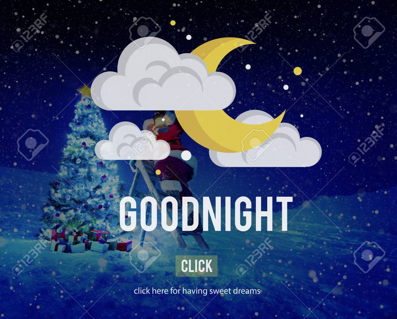 Goodnight Sweet Dreams Happiness Sleep Relief Concept Stock Photo