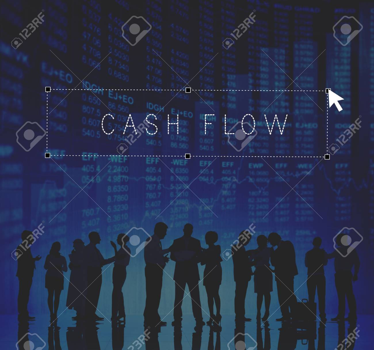 cash flow economy finance investment money concept stock photo
