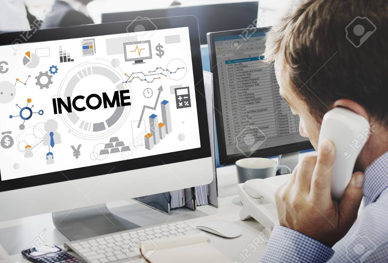 income assets banking capital finance money concept stock photo