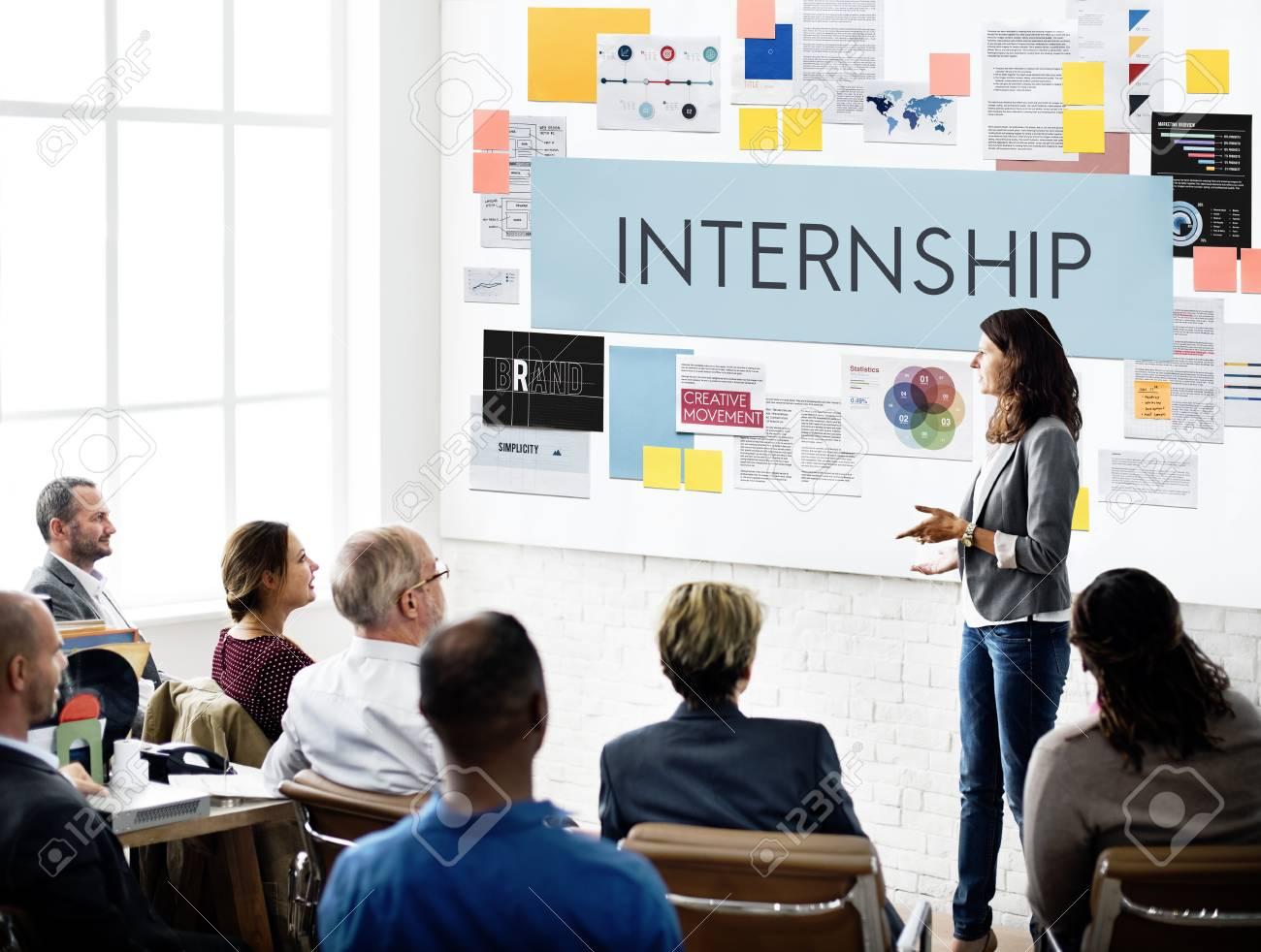 internship management temporary position concept stock photo
