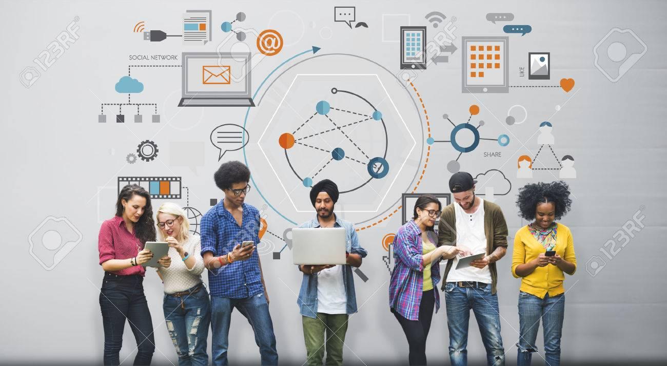 Global Communication Digital Device Information Concept - 57722533