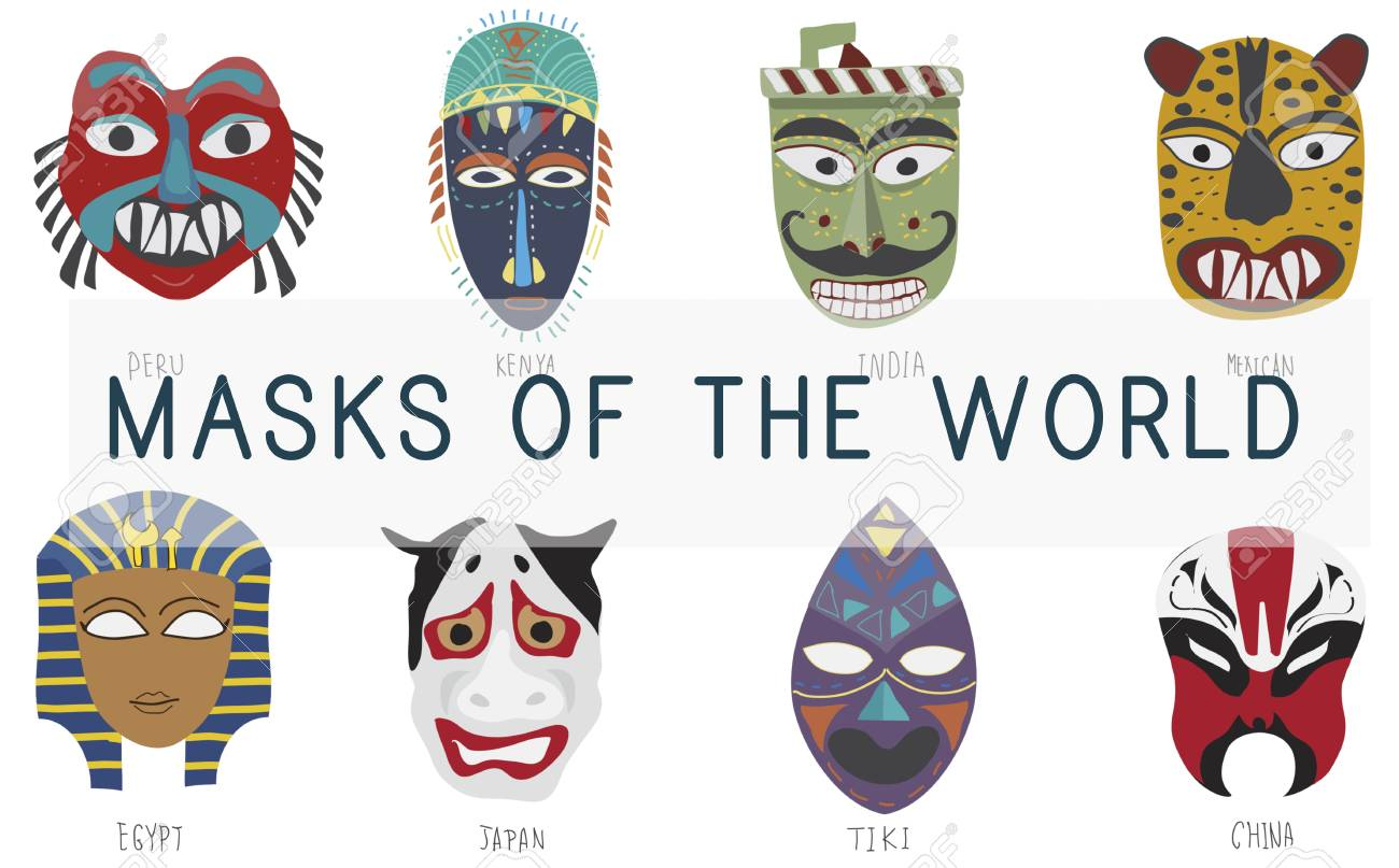 d0343fabaf87 Cultural Traditional Masks Global Concept Stock Photo, Picture And ...