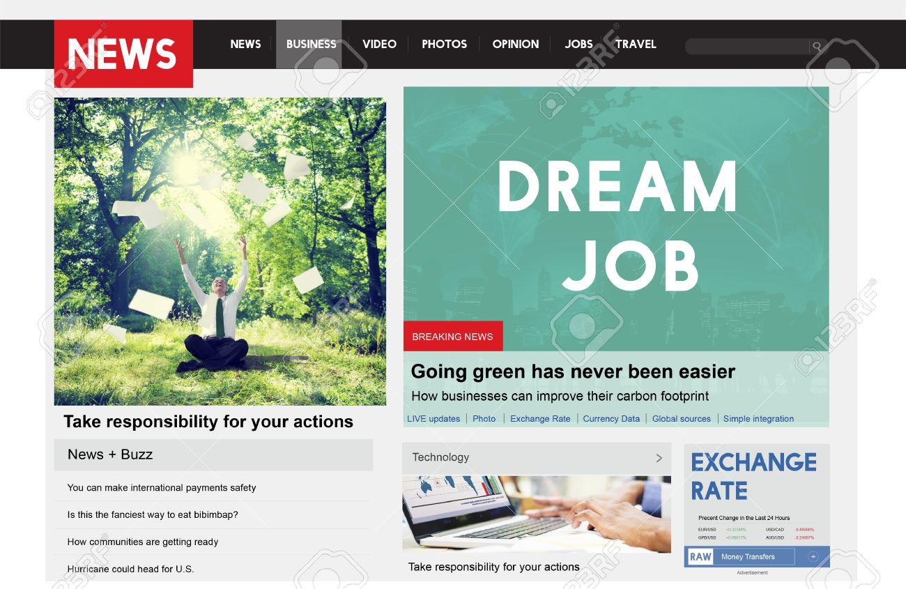 Dream Job Aspiration Plan Employment Hiring Concept Stock Photo ...