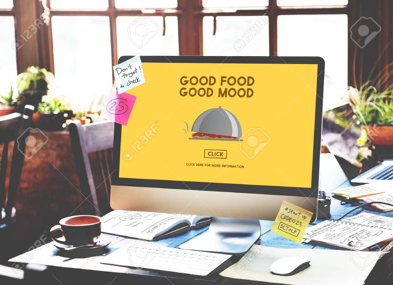 Food Good Mood Dining Restaurant Nutrition Cafe Concept Stock Photo
