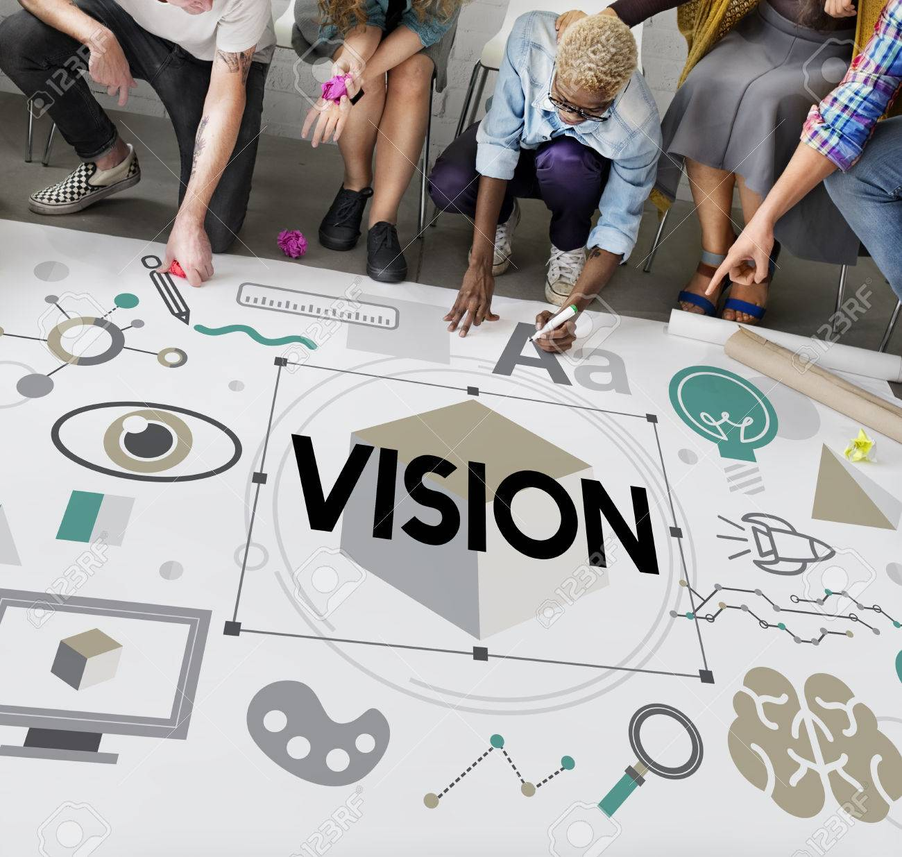 vision goals aspirations planning word concept stock photo stock photo vision goals aspirations planning word concept
