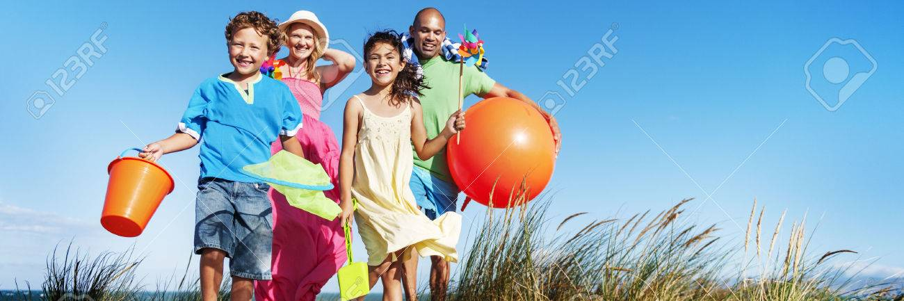 Family Bonding Cheerful Children Parenting Love Concept - 58055510