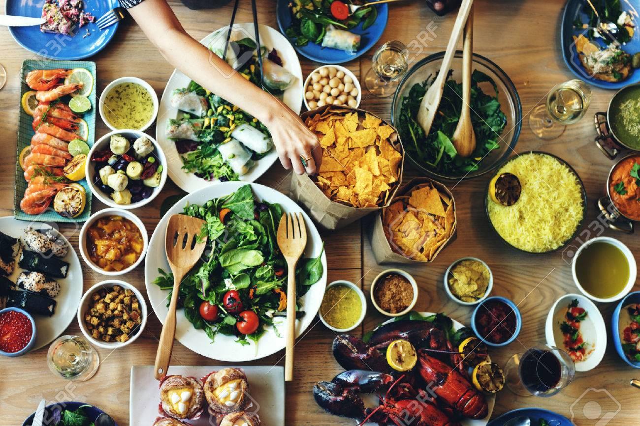 Concept Traiteur Cuisine Gourmet Culinary Party Buffet Banque d'images - 58319927
