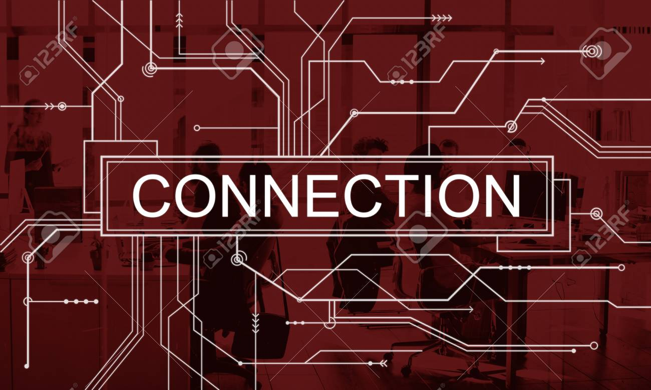 Connection Network Online Social Media Circuit Board Concept Stock ...