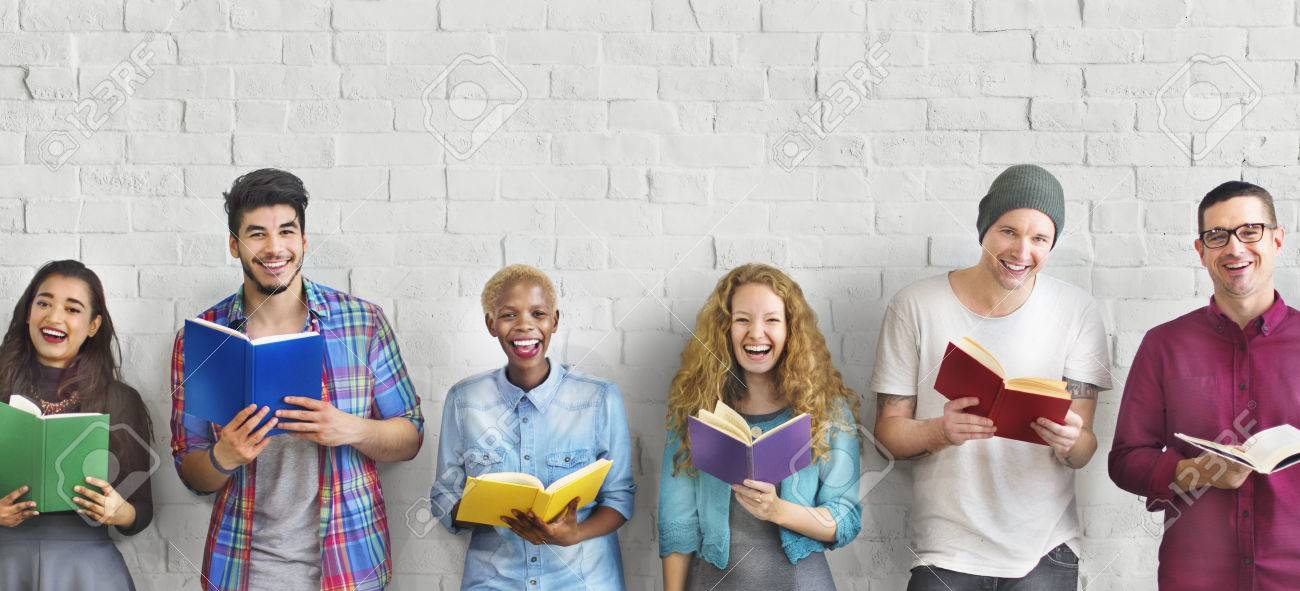 Diverse People Reading Books Study Concept - 58781157
