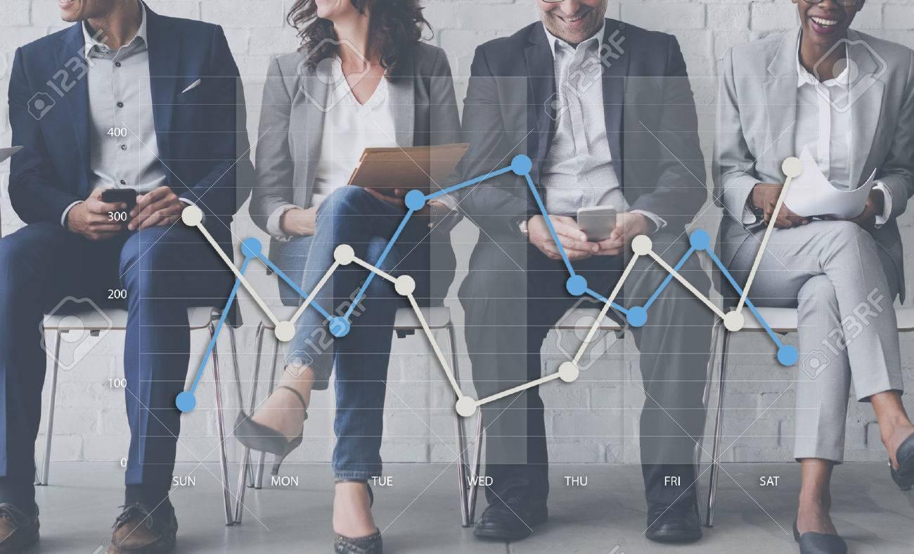 Line Graph Business Data Anaysis concept Banque d'images - 58781243